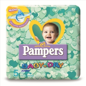 PAMPERS BABY DRY JUNIOR PZ 17