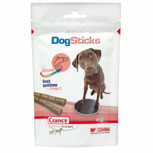 CRANCY SNACK DOG STICK SALMON OMEG3 GR90